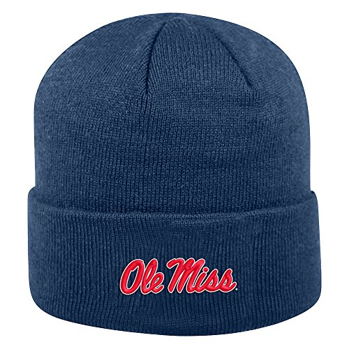 Top of the World Mississippi Old Miss Rebels Men's Winter Knit Hat Icon, Navy, One ()