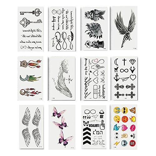 Womens Waterproof Temporary Wing Butterfly Tattoo Sticker Sexy Body Art Decal