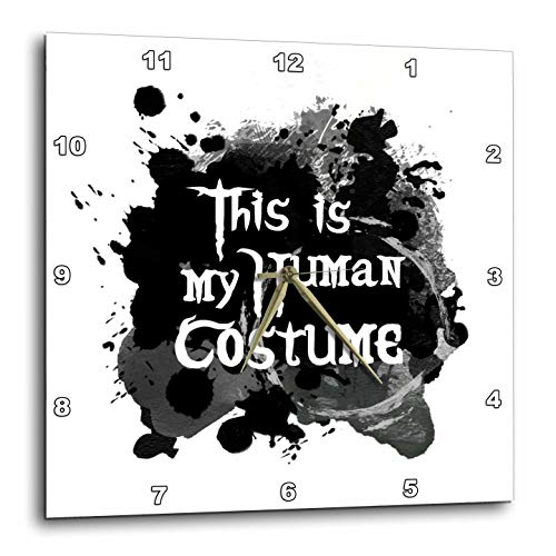 3dRose InspirationzStore - Occasions - This is My Human Costume - Humorous Funny Halloween Disguise Humor - 15x15 Wall Clock (DPP_317320_3)]()