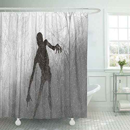Emvency Fabric Shower Curtain Curtains with Hooks Demon
