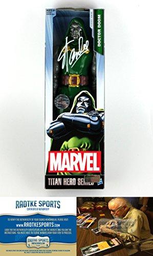 Stan Lee Autographed/Signed Dr. Doom Marvel Series Action Figure Box