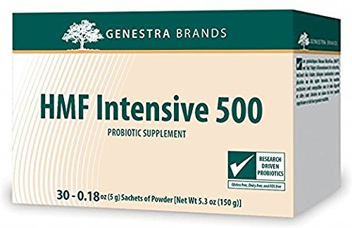Genestra Brands - HMF Intensive 500 - (Shipped Cold) - Highly Concentrated Probiotic Supplement to Support Gastrointestinal Health - 5 Gram Sachets of Powder - 30 Count by Genestra Brands