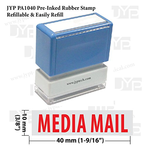 New JYP PA1040 Pre-Inked Rubber Stamp w. Media Mail