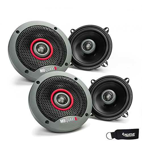 MB Quart - Two Pairs Of Formula 5.25 Inch 2-Way Coaxial Car Speakers - FKB113 (Way Thin 2 Coaxial)