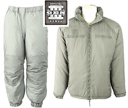 NEW US ARMY ISSUE - ECWCS GEN III LEVEL 7 EXTREME COLD WEATHER SET (PARKA AND TROUSERS) - MEDIUM (Parka Extreme Cold)