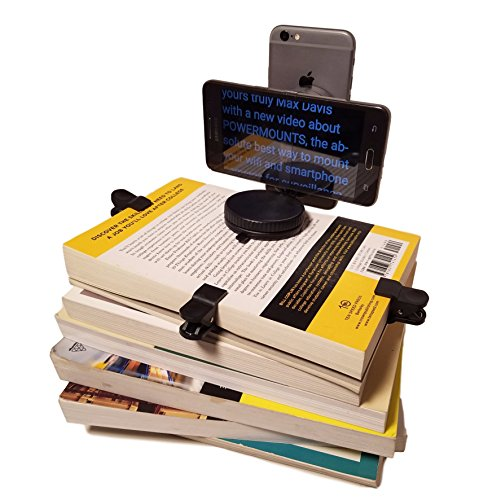 Basic Smartphone Teleprompter Kit for Youtubers and Pro Video Presentations: Handheld, Laptop Mount or Book Mount with 2-in-1-USB Cable: for Your Mobile Lifestyle