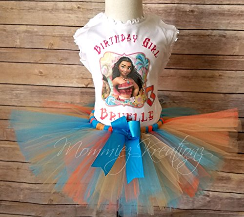 Moana Personalized Birthday Tutu Set, Moana Outfit by Mommiez_Kreationz