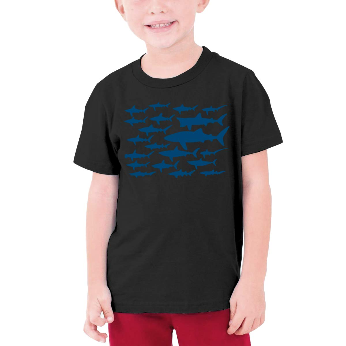 Youth Graphic Tshirts Teenage Boys Girls Short Sleeve T-Shirt Ocean Shark Floral Sea Fish Printed T Shirt Tees Tops