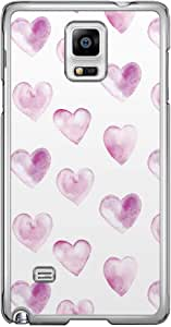 Loud Universe Samsung Galaxy Note 4 Love Valentine Printing Files A Valentine 45 Printed Transparent Edge Case - White/Purple