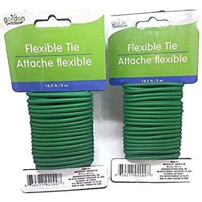 Garden Collection 16.6 ft Flexible Tie Attache Flexible - 2 Pack : Garden & Outdoor