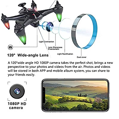 GPS FPV Drones with Camera for Adults Beginners 1080P HD Live Video, Global Drone RC Quadcotper Helicopter with Follow Me, Brushless Motor, Return Home, 5G WiFi Transmission, 18 Mins Long Flight Time