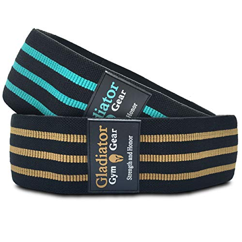 BOOTY GLUTE CLOTH RESISTANCE HIP BANDS - Non Slip - Thick Fabric SQUAT BAND for Workout, Exercise, & Fitness. 2 Pack of G3 HIP THRUSTER LOOP BANDS are Great Resistant Bands for LEGS and BUTT. -