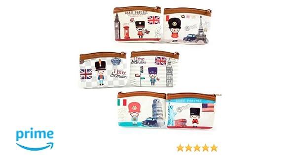 Lote 12 Monederos British Style - Detalles de bodas baratos originales, Monederos Recuerdos Bodas, Bautizos, Comuniones, Cumpleaños