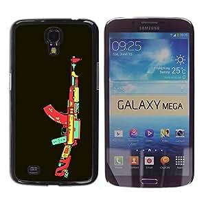Be Good Phone Accessory // Dura Cáscara cubierta Protectora Caso Carcasa Funda de Protección para Samsung Galaxy Mega 6.3 I9200 SGH-i527 // Video Game AK47 Gun