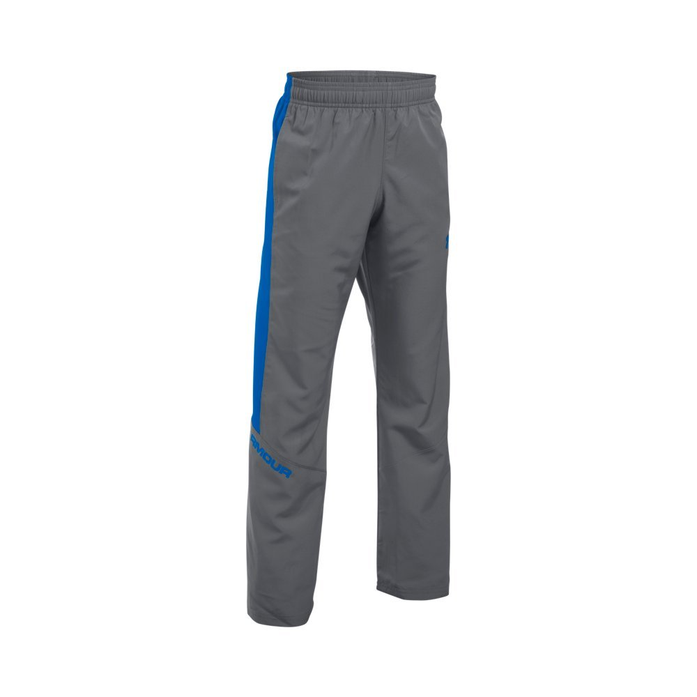 Under Armour Boys' Main Enforcer Woven Pants, Graphite/Ultra Blue, Youth X-Small