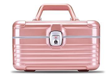 Superieur HOYOFO Large Makeup Train Case Cosmetics Organizer Suitcase Storage Box  (Pink)