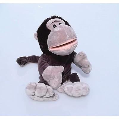 LIZHIOO Marioneta Bebé de Peluche de Dibujos Animados Lindo NICI hipopótamo Mariquita Lobo Jirafa Mapache cocodrilo estéreo marioneta de Mano bebé contando Historia ( Color : Orangutans ): Juguetes y juegos
