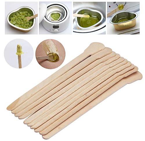 10pcs Wooden Disposable Bamboo Sticks Tattoo Wax Medical Hair Removal Sticks Waxing Wax Spatula Tongue Depressor Health Tool by AdvancedShop