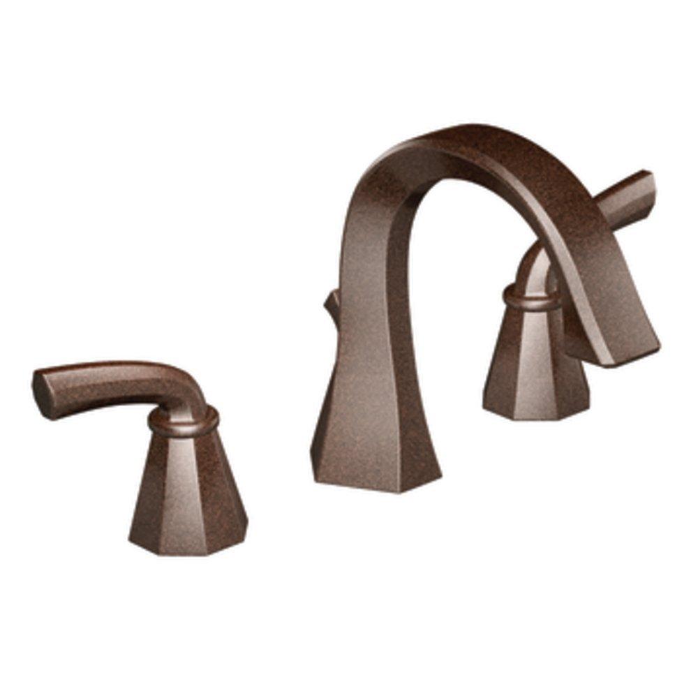 Moen TS448ORB Felicity Two-Handle High Arc Bathroom Faucet, Oil ...
