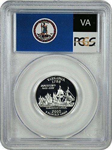 - 2000 S Virginia Silver Statehood Virginia Silver Statehood Quarter DCAM PCGS PR-69