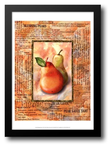 Blushing Pears 17x23 Framed Art Print by White, Abby
