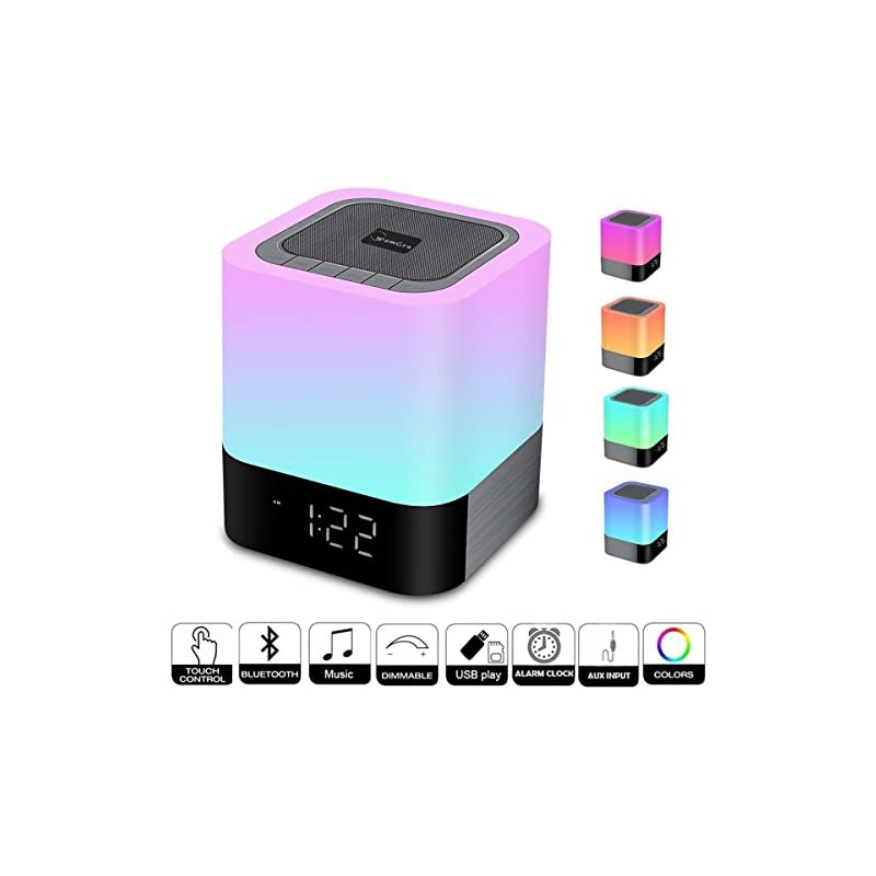 WamGra Night lights Bluetooth Speaker,To