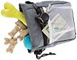 PETMAKER Dog Treat Bag- 4-Way Wear Pouch with Drawstring Closure for Training or Walking- Holds Treats, Cell, Keys, Bags, Pet Toys and Supplies