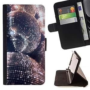 Momo Phone Case / Flip Funda de Cuero Case Cover - Glitter Ballon d'Argent Dance Party - LG G4c Curve H522Y (G4 MINI), NOT FOR LG G4