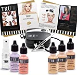 TRU Airbrush Makeup Kit Light/Medium Mineral Foundation 8 Piece Cosmetic Kit