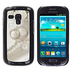 Exotic-Star ( Couple Ring ) Fundas Cover Cubre Hard Case Cover para Samsung Galaxy S3 III MINI (NOT REGULAR!) / I8190 / I8190N