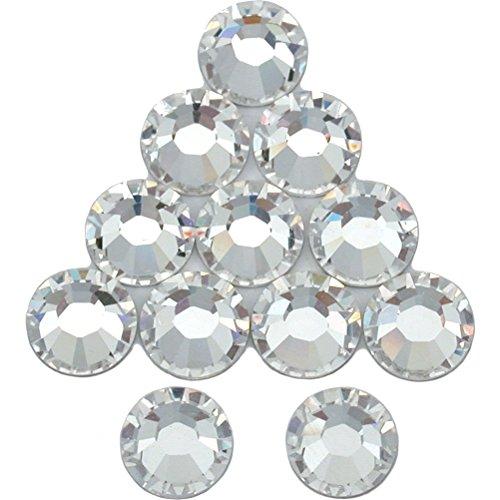 [12 Crystal Flatback Made With Swarovski Rhinestones 2028 SS34 New] (2028 Costume Jewelry)