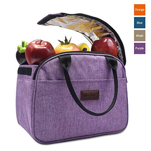 [해외]모징 점심 가방 쿨러 가방 토트 백 남성 및 여성 소프트 누출 방지 점심 상자 절연 주최자 작업 피크닉 학교 해변 스포츠 (보라색) / Mozing Lunch Bag Cooler Bag Tote Bag for Men & Women Soft Leak Proof Lunch Box Insulated Organizer for Wor...