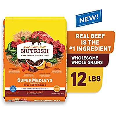 Rachael Ray Nutrish SuperMedleys Dry Dog Food with Wholesome Whole Grains and SuperFoods