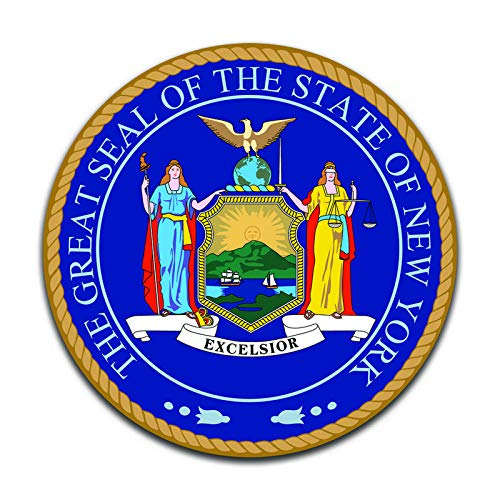 New York State Seal (2 Pack) Vinyl Decal Sticker - Car Truck Van SUV Window Wall Cup Laptop - Two 5 Inch Decals - MKS0919