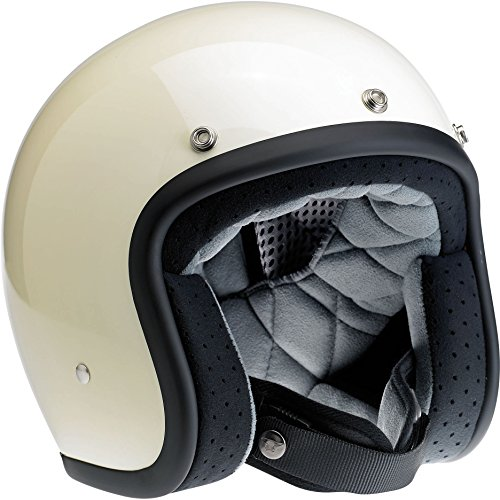 Biltwell Bonanza Half Helmet (Gloss Vintage White, Large)