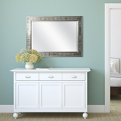 Remodeling Room. MCS 24x36 Stamped Medallian Mirror, 32x44 Inch Overall Size, Champagne (47700) #homeimprovement
