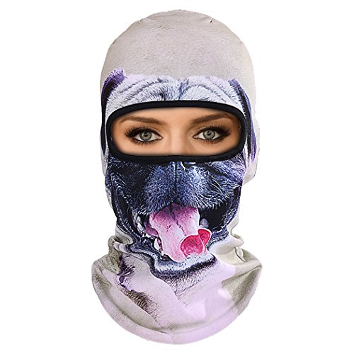 Outgeek Cat Mask, Women Men Balaclava Summer Full Face Hat Animal Ears Sports Helmet Climbing Fishing Cap (Colorful-7) by Outgeek (Image #9)