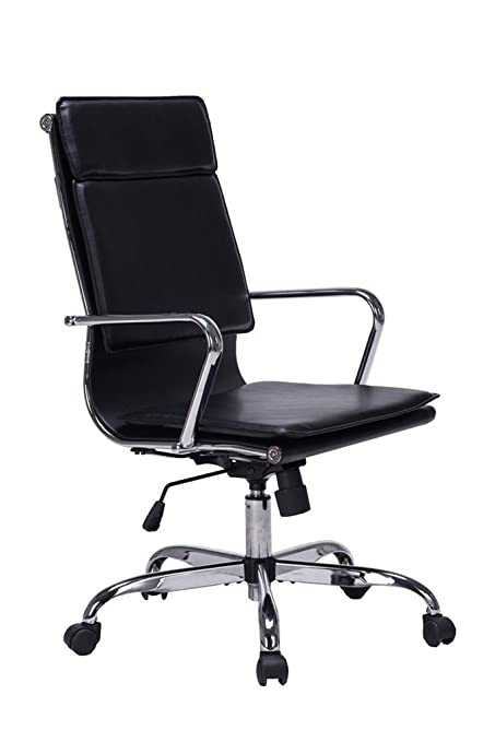 VIVA OFFICE Modern High Back Bonded Leather Office Task Chair Cushioned  Seating