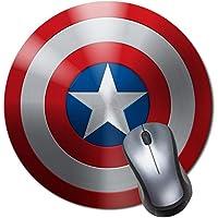 Round Gaming Mouse Pad Creative Custom Non Slip Rubber Mousepad Mat-Captain America Shield Icon