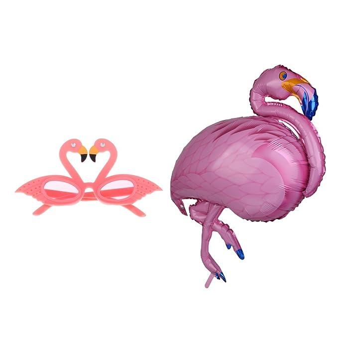 Gazechimp Globo de Papel de Aluminio Diseño con Flamingo+ ...