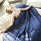 "YEMYHOM 100% Cotton Weighted Blankets Adult 20 lbs 60""x80"" Bed Couch Heavy Blankets"
