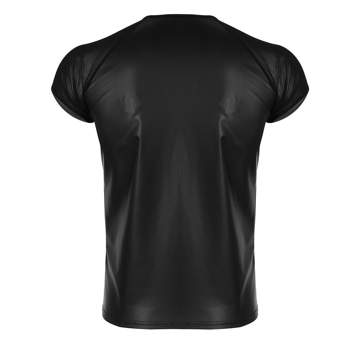 e236158ca8ca iiniim Herren Slim Fit Shirt Mesh T-Shirt Tops Unterwäsche Reizwäsche M L XL  XXL  Amazon.de  Bekleidung