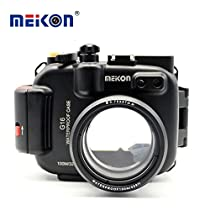 Meikon 100M/325ft underwater waterproof camera Aluminum housing case for Canon G16
