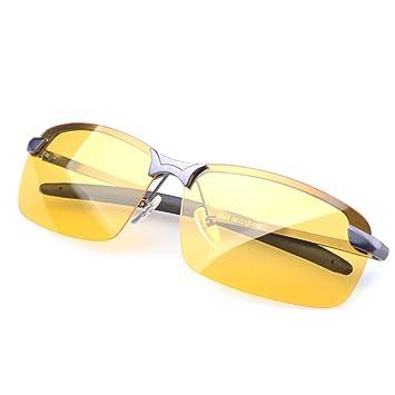 Vococal UV400 Gafas de visión Nocturna Lente polarizada antideslumbrante Gafas Anteojos Brillo Gris Gafas de conducción