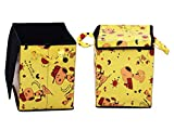 Desirica Yellow Home Storage Kids' Laundary/Toy Bag with Cover
