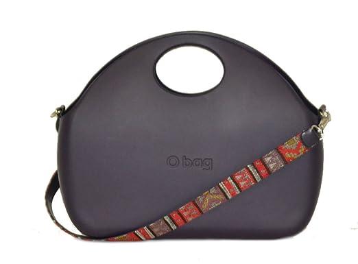 Bolsa O Bag Moon, color Berenjena con Correa y bolsa