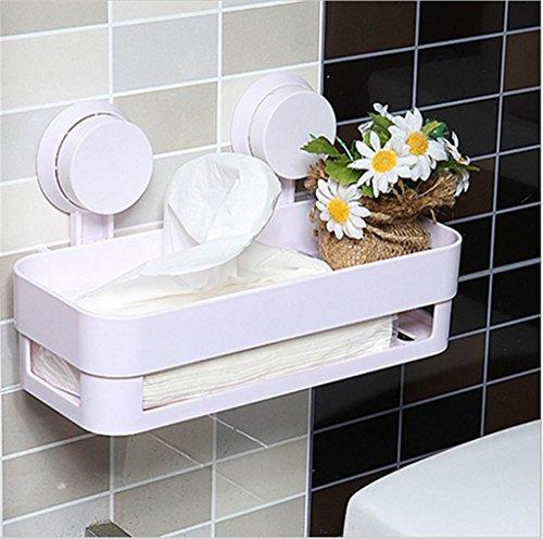 Excellent.advanced® Mehrzweck Küche Badezimmer Storage-Produkte Halter-Badezimmer-Doppelregal Suckers Badezimmer Regal