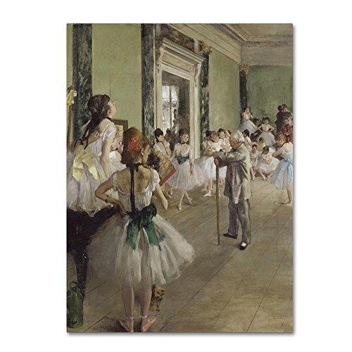 - The Ballet Class by Edgar Degas, 18x24-Inch Canvas Wall Art