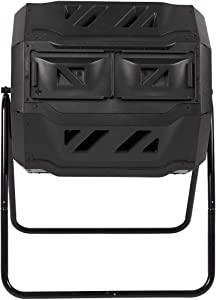Homewell Rotary Garden Composting Tumbler 170L / 45-Gallon Compost Tumbling Capacity