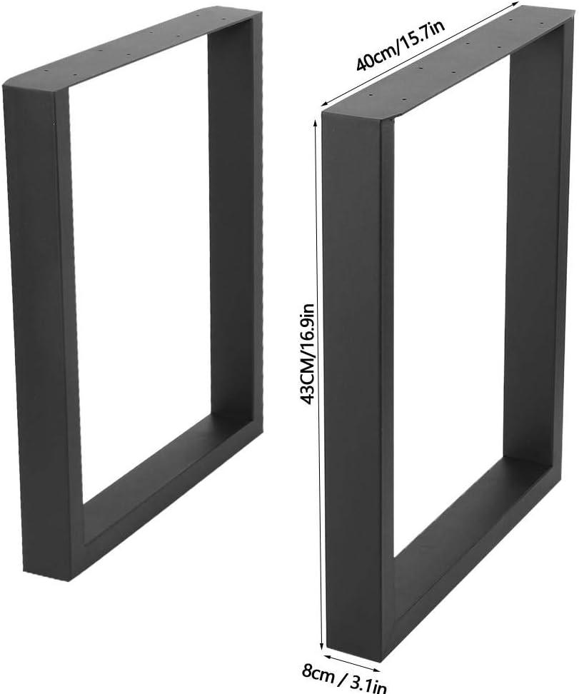 40X43CM 2PCS Patas de mesa Durabilidad de color Durabilidad Superficie Acondicionado Acero Escritorio industrial Pata Precisi/ón Corte por l/áser Dise/ño de bricolaje para muebles para el hogar
